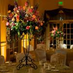 Centerpiece Pin Spotting & Up-Lighting Photo Courtesy of Synergetic Consulting