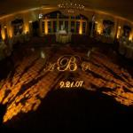 Up-Lighting, Monogram Projection and Dance-floor Wash Photo Courtesy of Synergetic Consulting